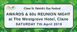 View Clane Festival Awards 60s Reunion Night 2018 Information