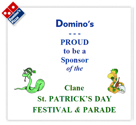 Dominos Pizzas Sponsor St Patrick's Festival Clane 2010