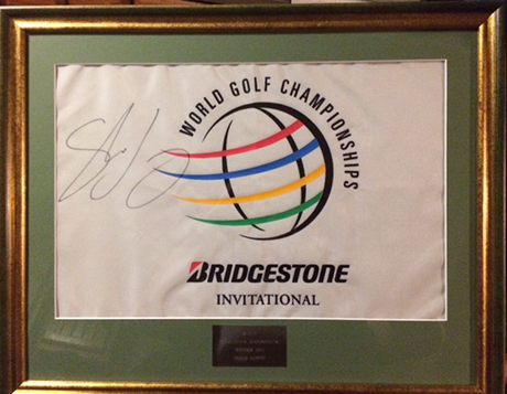 Framed Bridgestone Invitational Golf Championship Flag from Shane Lowry