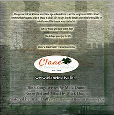 Clane Festival CD 2016 Back