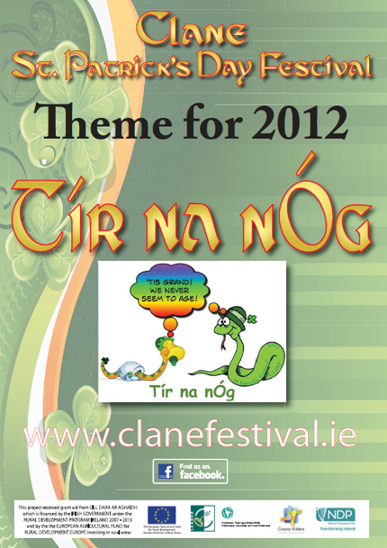 Clane St. Patricks Day - Theme Poster 2012 - Tir Na Nog