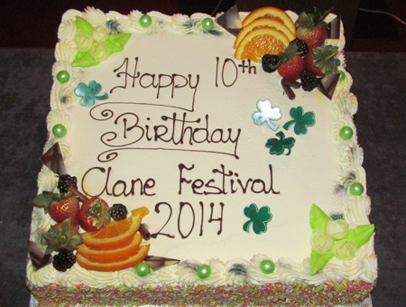 Clane Festival 10th Birthday Cake 2014