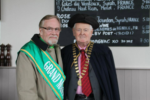 Grand Marshall Ed Kiely and Mayor Dessie Marron