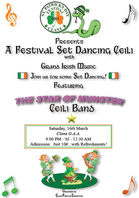 Clane Ceili Event 16 March 2013