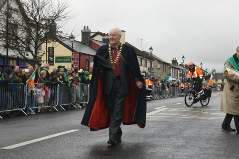 Lord Mayor Dessie Marron at Clane St Patricks Day Parade