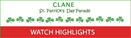 Watch The 2018 Clane St. Patrick's Day Parade Highlights on the Web now