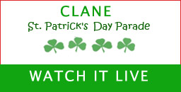 Watch the Clane St. Patrick's Day Parade Live Here from 2:45pm approx