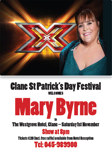 Mary Byrne at The Westgrove Hotel on Sat 01 Nov 2014