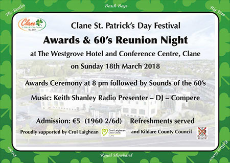 Clane Festival Awards and 60s Reunion Night 2018