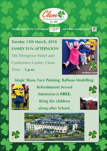 Clane Festival Family Fun at the Westgrove Hotel 13 March 2018
