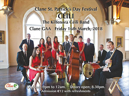 Kilfenora Céilí Band at Clane Festival 2018