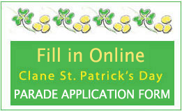 Clane St Patricks Day Parade Application Form 2020