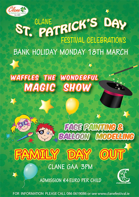 Clane St Patricks Family Day Out Poster 2019